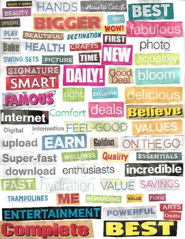 Inspirational Word Collage