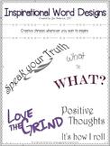 Inspirational Word Designs