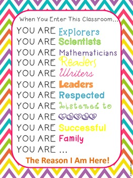 """Inspirational """"You Are"""" Poster"""