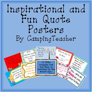 Inspirational and Fun Quote Posters for the Classroom