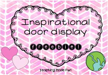 Inspirational door display - freebie!
