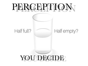 Inspirational poster on perception