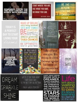 Inspirational quote tags