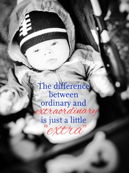 """Inspirational quote """"the difference between ordinary""""..."""