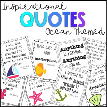 Inspirational quotes ocean themed!