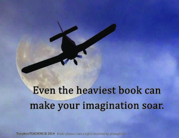 Inspire Card - Books Make Your Imagination Soar