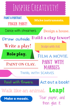 Inspire Creativity Printable Art Ideas