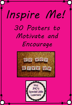 Inspire Me Posters Bright Backgrounds