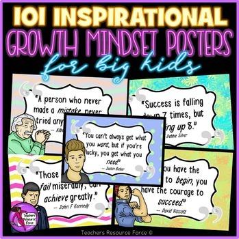 Growth Mindset Inspirational Classroom Posters