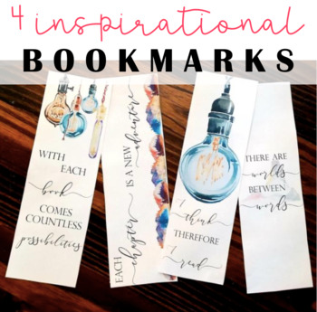 Inspire Reading Bookmarks, Nature Bookmarks, Cute Bookmarks