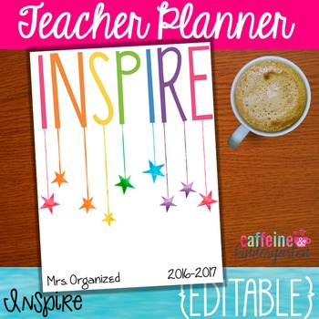 Editable Teacher Planner with Yearly Updates