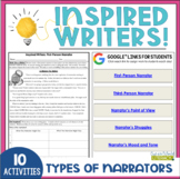 Inspired Writers: Narrators - Distance Learning Ready!
