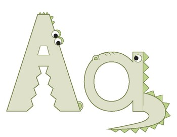Inspired by Zoo Phonics, Colored Capital and Lowercase Letters of the Alphabet