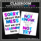 Inspiring Classroom Mini Posters: Blue and Purple