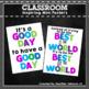 Inspiring Classroom Mini Posters Green, Blue and Purple