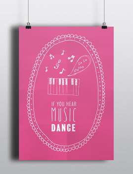 Inspiring Disney Decor Quote Poster - Digital Download Printable - Dance