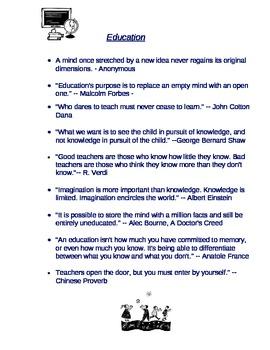 Inspiring Education Quotes