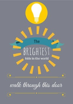 Inspiring Poster and Printable for Your Classroom! Bright and Modern!