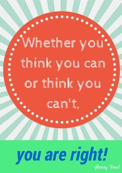 Inspiring Poster and Printable for Your Classroom! {motiva