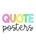 Inspiring Quote Posters for Classroom