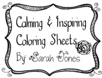Inspiring coloring sheets