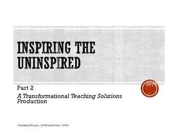 Inspiring the Uninspired Part 2 Workshop