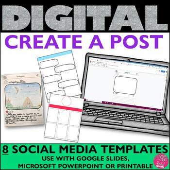 Instagram Writing Template for Google Drawings™