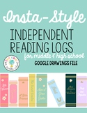 Insta-Style Independent Reading Log | EDITABLE