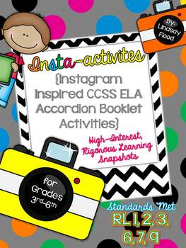 Insta-activities {Instagram inspired ELA Craftivities for BIG KIDS!}