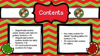 Insta-center Christmas!  Counting Cookies!