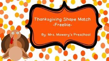 Insta-center Freebie!  Thanksgiving Shape Match