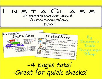 InstaClass Intervention and Assessment Tool