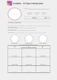 Editable Instafam: Back to School Template (Mock Instagram Profile) Google Docs