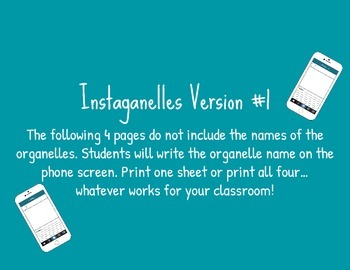 Instaganelles: Instagram Activity for Cell Organelles