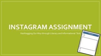 Instagram Assignment - Hashtagging Our Way through Literary Text