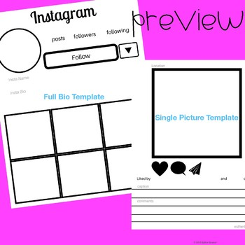 Instagram Bio Template/ Wanted Poster Alternative