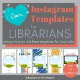 Instagram Book Talk TEMPLATES for CANVA [Editable]