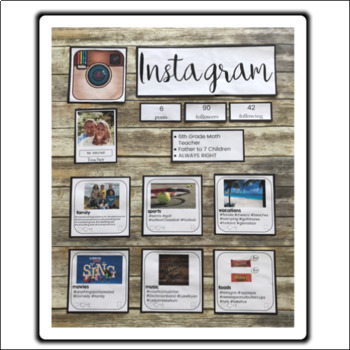Instagram All About Me Bulletin Board using Google