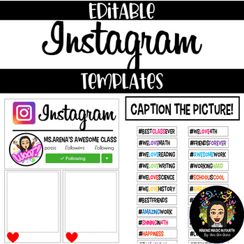 Instagram Bulletin Board!- Editable