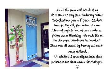 Instagram Classroom Bulletin Board Set
