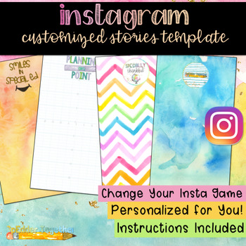Instagram Customized Stories Template