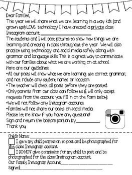 Instagram Family Letter FREEBIE