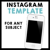 Instagram Feed Activity for ANY Subject!