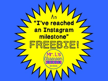 Instagram Follower Milestone Surprise Freebie!