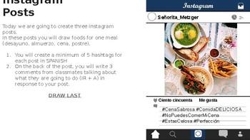 Instagram Food Posts - Spanish
