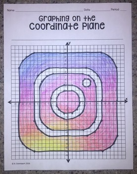 Instagram (Graphing on the Coordinate Plane/ Mystery Picture)