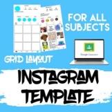 Instagram Grid Template   Digital Learning Resource