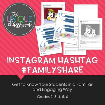 Instagram Hashtag #FamilyShare {Back to School Getting to Know You Activity}