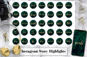 Instagram Highlight Icons, Palm Leaves Instagram Covers