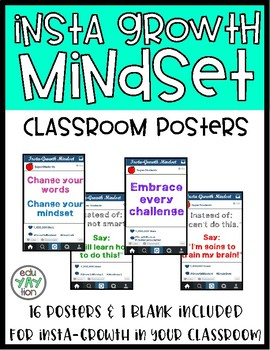"""Instagram """"Insta-Growth"""" Mindset Posters"""